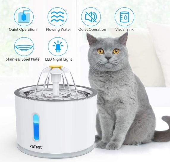 La mejor fuente de agua automática para gatos, la fuente Aerb